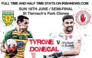 GAA: Ulster SFC: Tyrone v Donegal: match stats