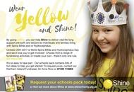 Schools urged to `shine' to raise awareness of spina bifida