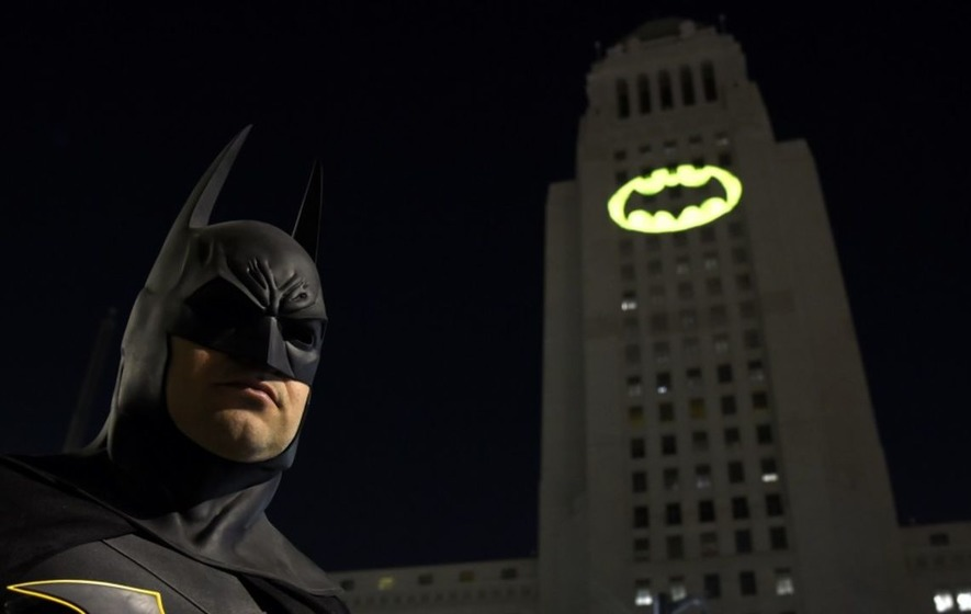 Bat-Signal lights up Los Angeles in tribute to Adam West