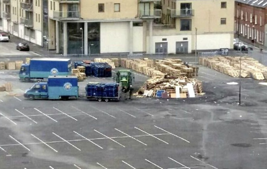 Housing body helped in Belfast council storage of bonfire pallets