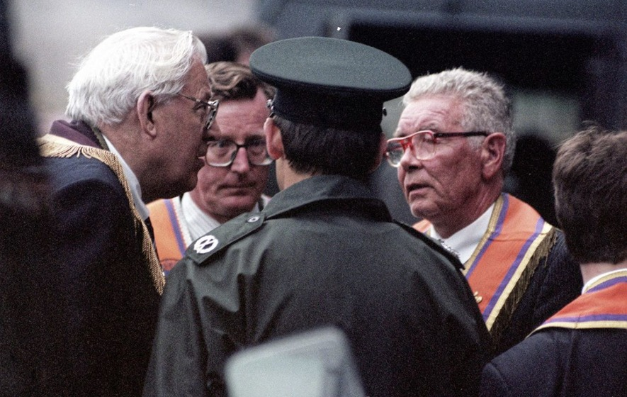 Orange Order leader Harold Gracey thanked Billy Wright for UVF Drumcree support