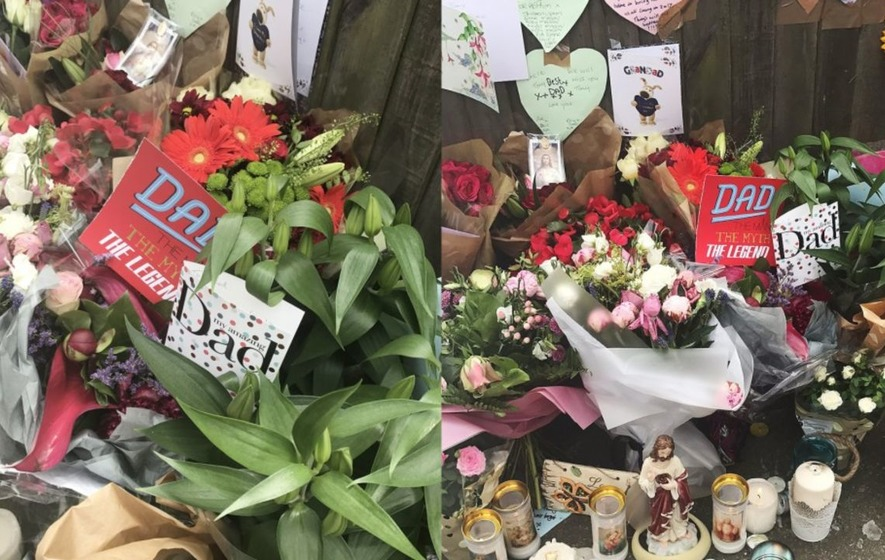 Heartbreaking Father's Day cards left to victims of Grenfell Tower