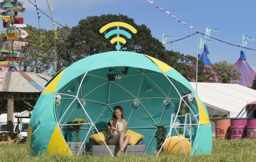The first ever 'smart tent' will be pitched at this year's Glastonbury