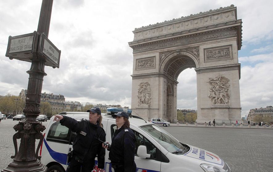 Man drives into police vehicle at Champs-Elysses in Paris