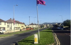 Call for the removal of UVF and Israeli flags in Kilkeel