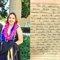 This graduate went viral after sharing an emotional, 17-year-old note from her father