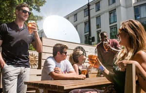 A 'smart mirror' is being used to keep beer gardens in the sun all hours of the day