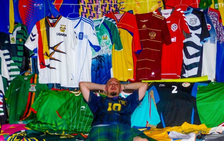 this guy just completed his collection of football shirts from all, Human Body