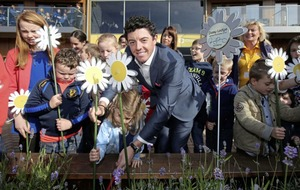 Video: Rory McIlroy pledges £1 million to charity helping children with cancer
