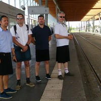 These French bus and tram staff found a genius way to circumvent a ban on shorts