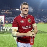 Ireland's Peter O'Mahony leads the Lions in first test