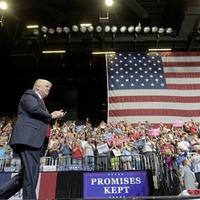 Trump celebrates Republican special election win at campaign rally