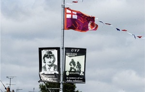 Call for PSNI to remove UVF tribute banner in Co Tyrone