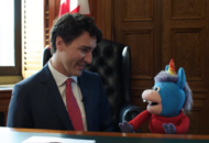 Justin Trudeau gave a unicorn a 'Prime Minister's hug' and we don't know how to feel about it