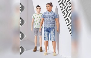 Ken doll gets a man bun and a dad bod