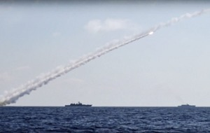 Russia fires cruise missiles at Islamic State positions in Syria