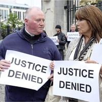 Survivors of institutional abuse stage protest in Belfast to highlight lack of progress by government