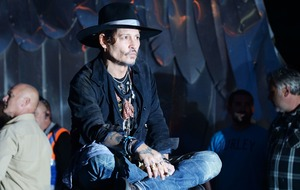 Johnny Depp duetted with Kris Kristofferson at Glastonbury