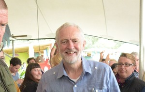 Jeremy Corbyn the toast of Glastonbury after surprise bar visit