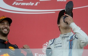 Lance Stroll became part of Formula One history and did a shoey to boot