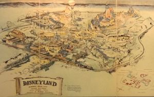 Disneyland's first colour map fetches £556,000 at auction