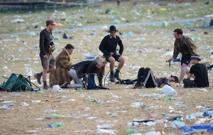 Glastonbury clean-up gets under way