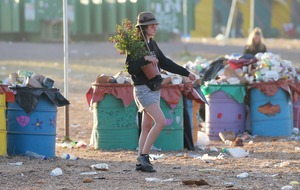 Glastonbury clean-up begins as revellers head home