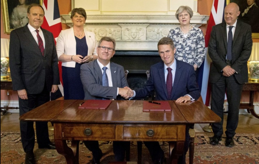 May shakes magic money tree for Foster but no wand is waved to save Stormont