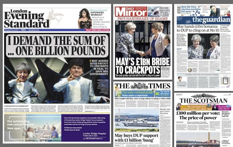 DUP-Tory deal: How British newspapers reacted
