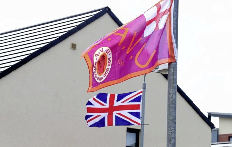 DUP pledge funds for shared housing projects days after party is criticised over response to UVF flags