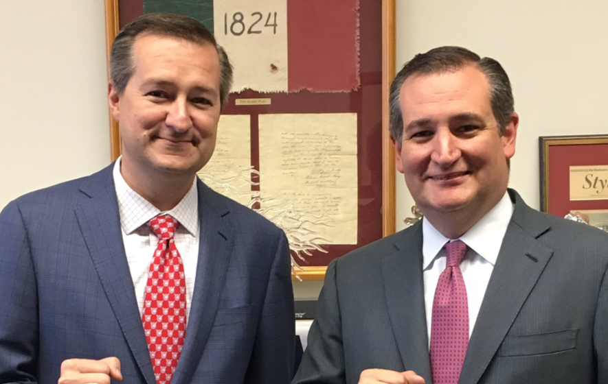 Can you tell which of these men is US senator Ted Cruz?