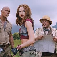 Karen Gillan joins Dwayne Johnson and Jack Black in action-packed first Jumanji trailer