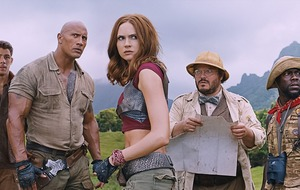Karen Gillan joins Dwayne Johnson and Jack Black in action-packed first Jumanji trailer