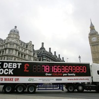164,000 miles high of debt