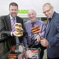 Burgers and sausages top of the coals at Asda NI