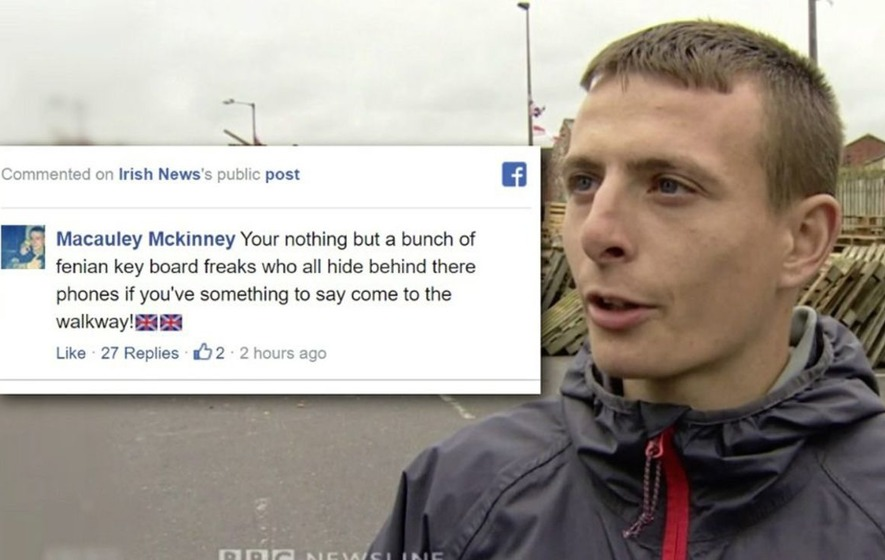 Bonfire builder hurls insults at Irish News