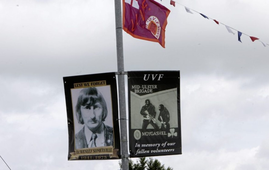 Families say UVF killer Wesley Somerville banner is a hate crime