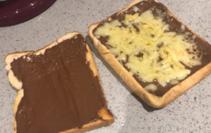 This unusual cheese and chocolate toastie combination is dividing people