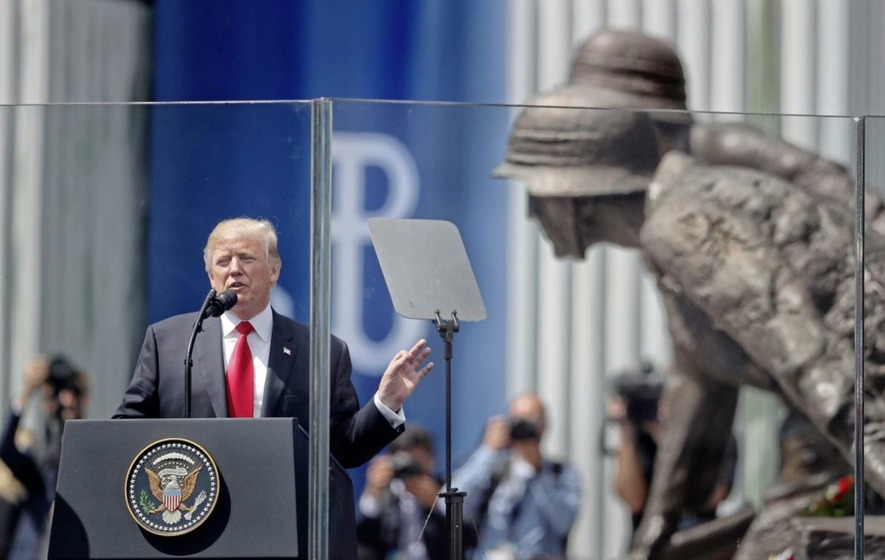 President Trump commemorating 1944 Warsaw anti-Nazi uprising