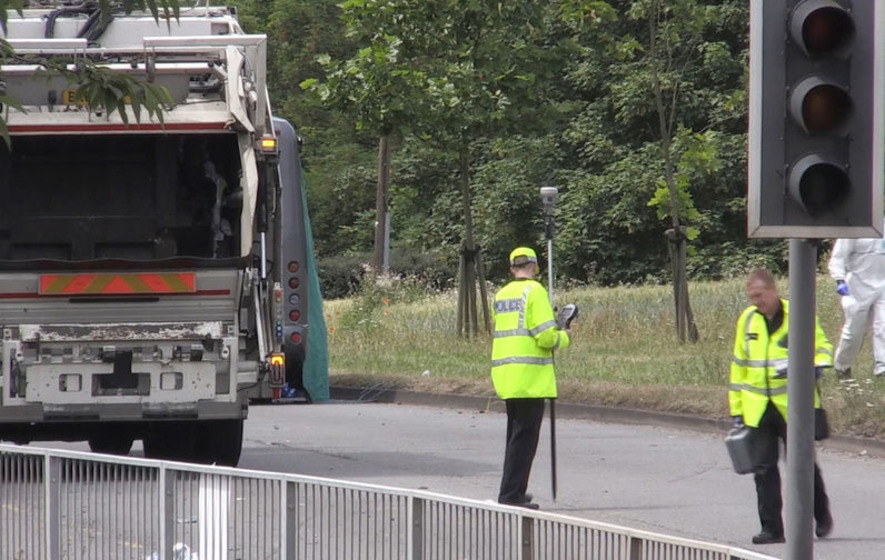 Schoolgirl killed as field trip minibus crashes with bin lorry