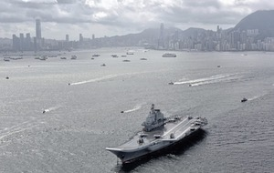 China's sole operating aircraft carrier arrives on first call to Hong Kong