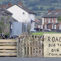 Bonfire builders erect closure sign due to 'threat on our culture from nationalists'