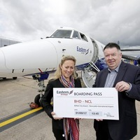 'Hip hip Howay' as Belfast-Newcastle flight is launched