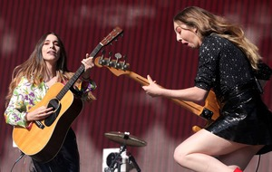 Haim's new album threatens to steal Ed Sheeran's number one crown