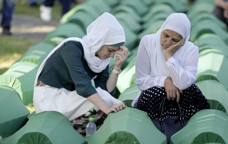 Funeral for dozens of newly identified victims of the 1995 Srebrenica massacre
