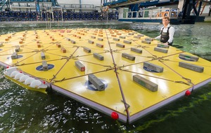 Researchers in the Netherlands are developing a huge floating island to battle rising sea levels