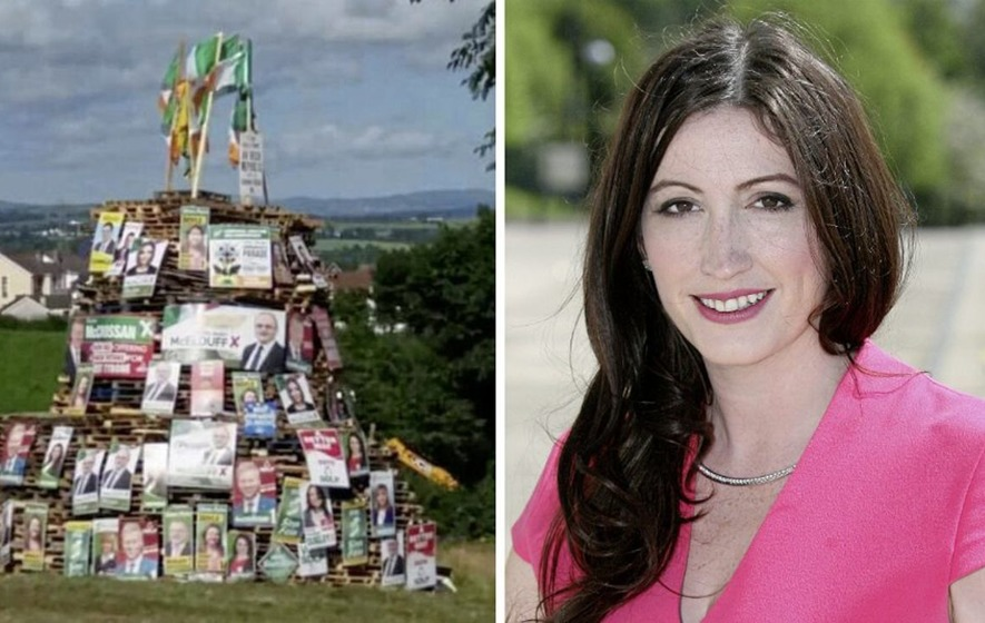 DUP's Emma Little Pengelly clarifies 'free society' defence of bonfire effigies