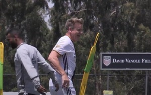 Watch: Gordon Ramsay joins in with training at LA Galaxy
