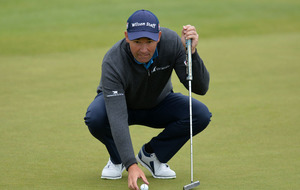 Padraig Harrington sets daunting clubhouse target on second day of Scottish Open