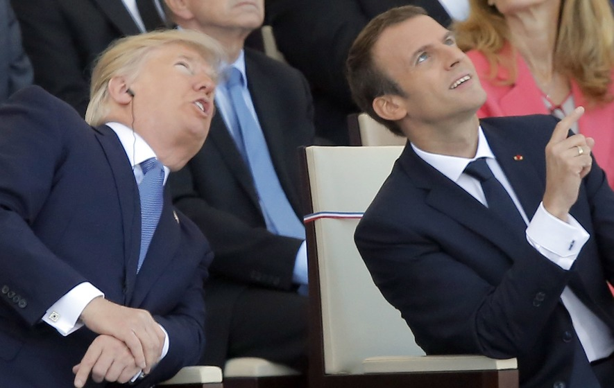 French military band dazzles Macron, Trump with Daft Punk rendition